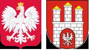 Godło Polski i godło Zgierza